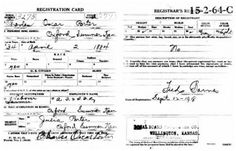 Charles Oscar PORTER World War I Draft Registration Card