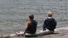Boys fishing  Peyton and Mason Ziegler