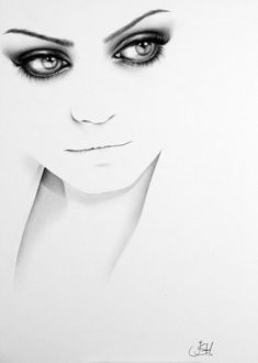 Mila Kunis Minimalism Pencil Drawing Portrait  Fine Art Signed PRINT