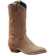 Abilene Cowboy Boots Vintage 1980s Abilene Leather Brown Boots Men/'s size 10 Boots