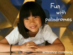 "Palindromes (""mirror image"" words and phrases) are fun to read and write with kids! Fun family palindrome activity to try, too."