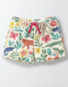 Bright patterns, tough (but gentle) towelling fabric and an easy-to-pull-on style: these shorts are perfect for wearing to the beach. There's even a pocket on the back for keeping your ice cream money handy. They're made for seaside splashing (and waterfights at home, too).