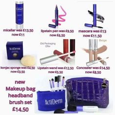 Check out these amazing offers on make up and cleansing products. Too good to be missed but get them whilst you can House Of Beauty, Beauty Box, Makeup Essentials, Brush Set, Wands, Concealer, Mascara, Packaging, Skin Care