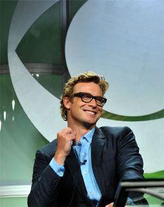 simon baker...love...the glasses, the hair, the smile
