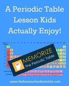 Periodic Table Lesson - memorize the periodic table