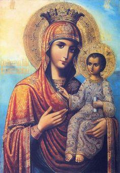 """Икона Божией Матери """"Избавительница""""  Величит душа Моя Господа, и возрадовася дух Мой о Боге Спасителе Моем. Честнейшую Херувим и славнейшую без сравнения Серафим, без истления Бога Слова рождшую, сущую Богородицу, Тя величаем."""