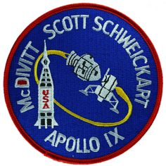 First launch of the complete Apollo configuration: Saturn V vehicle, Command Service Module (CSM) and Lunar Module (LM). Sucessful docking in space of CSM and LM. First firing of LM ascent and descent Apollo Space Program, Nasa Space Program, Nasa Missions, Apollo Missions, Hubble Space Telescope, Space And Astronomy, Space Patch, Nasa Patch, Nasa History