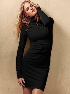 NEW! Cable-sleeve Turtleneck Sweaterdress #VictoriasSecret http://www.victoriassecret.com/clothing/dresses/cable-sleeve-turtleneck-sweaterdress?ProductID=65055=OLS?cm_mmc=pinterest-_-product-_-x-_-x