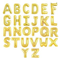 "16"" Inch Gold Foil Mylar Letter Balloons - Alphabet, Name, Graduation, Birthday, Engagement, Baby, Bride, Congrats - by Celebration Lane by ShopCelebrationLane on Etsy https://www.etsy.com/listing/232373320/16-inch-gold-foil-mylar-letter-balloons"