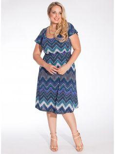 Adora Plus Size Dress in Cobalt - Plus Size Day Dresses by IGIGI