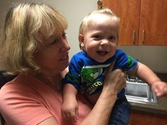 Our embryologist Carol Sommerfelt with baby Asa during a recent visit to the NEDC.
