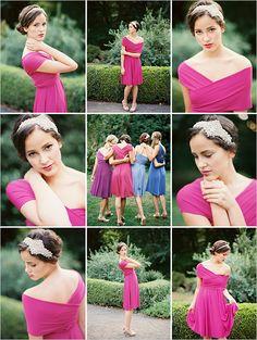 pink twist wrap bridesmaid dresses #dessygroup #weddingchicks #twistwrap http://www.weddingchicks.com/2014/01/01/wedding-chicks-twist-wrap-dresses/