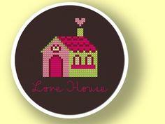 Love House. Cross Stitch Pattern PDF File