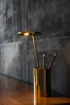 E.T. Table Lamp in Brass. Handmade, LED.  Design by Benjamin Hopf for FORMAGENDA. Available in different colors at www.formagenda.com #Formagenda #Lighting #Design
