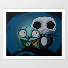 Buy The Owl Jack And Sally by Annelies202 as a high quality Art Print. Worldwide shipping available at Society6.com. Just one of millions of products available.