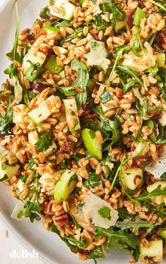 salad is filling enough to be a meal all on its own. Get the recipe from . easy farro salad is filling enough to be a meal all on its own. Get the recipe from . farro salad is filling enough to be a meal all on its own. Get the recipe from . Healthy Salad Recipes, Gourmet Recipes, Vegetarian Recipes, Burger Recipes, Bread Recipes, Soup Recipes, Rice Salad Recipes, Recipies, Juice Recipes