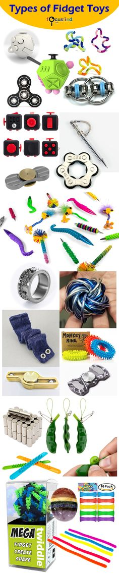Fidget toys are all the rage for those of us ADHD, ADD hyper people. Here is one of the more comprehensive list of fidget toys in the market today. - Tap The Link Now To Find The Gift Sensory Tools, Sensory Activities, Sensory Play, Sensory Diet, Counseling Activities, School Counseling, Figet Toys, Diy Toys, Adhd And Autism