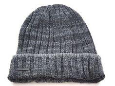 9ccaa952196 Calvin Klein Tweed Rib Cuff Black Gray Casual Men s Women s Winter Beanie  Hat -