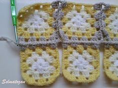 ELİMDEN GELENLER: İplik Koparmadan Motif Birleştirme Crochet Coat, Blanket, Pattern, Fonts, Crocheting, Designer Fonts, Patterns, Types Of Font Styles, Blankets