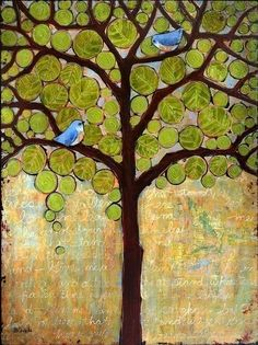 May Bluebirds of Happiness reside in your Tree of Life <3 http://imgfave.com/search/art%20journal