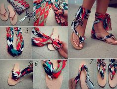 How to make beautiful sandals