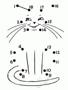 This page has a lot of free printable Animal dot to dot worksheets for kids,parents and preschool teachers Preschool Worksheets, Preschool Learning, Kindergarten Math, Preschool Activity Sheets, Cat Activity, Dot To Dot Printables, Pre K Activities, Coloring Pages For Boys, Learning Numbers