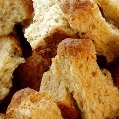 Buttermilk Ouma Rusks Recipe I'm going to miss these so much when I leave SA! Buttermilk Rusks, Buttermilk Recipes, Kos, Baking Recipes, Dessert Recipes, Key Food, South African Recipes, Thing 1, Sweet Recipes