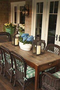 Dining room on the screened porch...