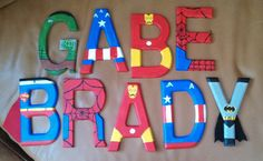 Handpainted+5.5+tall+wood+letters+by+TheHandpaintedHero+on+Etsy,+$8.00