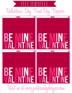 Just Peachy Designs: Valentine's Day Treat Bag Toppers