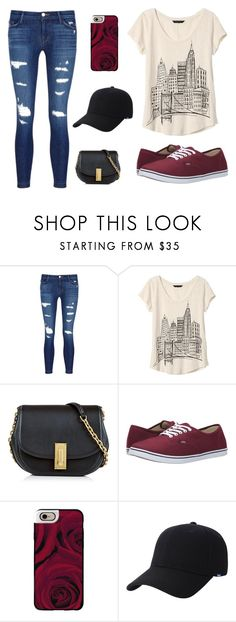 """""""Untitled #71"""" by emmamargsmart ❤ liked on Polyvore featuring J Brand, Banana Republic, Marc Jacobs, Vans, Casetify and Keds"""