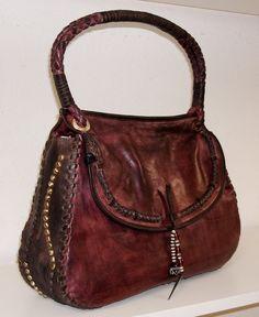 // Jesse Shoulder Bag - Vintage Eggplant Brown need this for fall!
