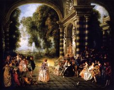 Jean-Antoine Watteau - The Pleasures of the Ball (Dulwich Picture Gallery - London (United Kingdom - London)) アントワーヌ・ヴァトー Rococo Painting, Painting Frames, Painting Prints, Art Prints, Oil Paintings, Jean Antoine Watteau, Dulwich Picture Gallery, Google Art Project, French Rococo