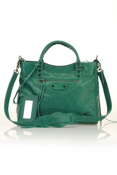 Balenciaga Goatskin Leather Handbag With Mirror...saw a girl with this same bag today & knew it was a Balenciaga!