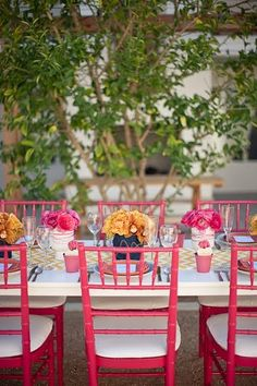 LOVE these chairs!!  These are totally in the dream wedding!  :) Wedding Chairs, Wedding Table, Diy Wedding, Dream Wedding, Wedding Ideas, Wedding Inspiration, Wedding Receptions, Color Inspiration, Wedding Flowers