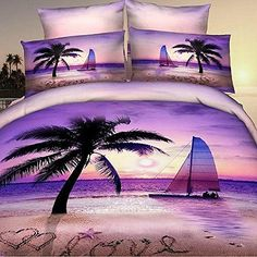 Discover the best palm tree bedding and comforter sets. We have a ton of palm tree bedding sets, quilts, duvet covers, sheets, and more.