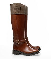 Tory Burch Daniela Mid Heel Boot and other apparel, accessories and trends. Browse and shop 8 related looks. Tory Burch Boots, Equestrian Style, Looks Cool, Leather Booties, Knee High Boots, Me Too Shoes, Riding Boots, Bootie Boots, Women's Boots