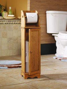 Wooden Toilet Paper Storage Cabinet | Stratmore Toilet Paper Holder Cabinet: