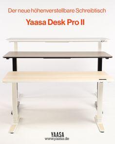 Der neue höhenverstellbare Schreibtisch von Yaasa zeichnet sich durch verbesserte Performance, viele Zusatzfunktionen und modernes Design aus.🤩 Der Yaasa Desk Pro II ist das Highlight jedes Büros oder Homeoffice und bringt Bewegung in deinen Arbeitsalltag! Erfahre alles über seine Features und Vorteile in unserem Blogpost.📌😎 Desk, Table, Furniture, Home Decor, Adjustable Height Desk, Get Up, Benefits Of, Contemporary Design, Writing
