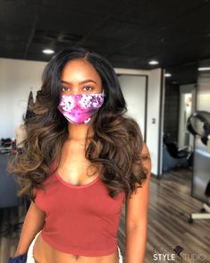 """The Woman Behind The Needle (@rosestylestudio) posted on Instagram: """"A little bit of SWEET & a whole lot of SASS! ______ Kat is wearing a custom lace closure unit. We added some cool brown tones to compliment…"""" • Aug 13, 2020 at 4:44pm UTC Lace Closure, Hair Inspiration, Compliments, Black Hair, The Unit, Woman, Cool Stuff, Brown, Sweet"""
