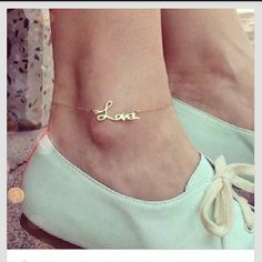"""Cute """"love"""" anklet"""