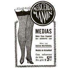 #InstaBox Mercería Manón #1920 #vintage #ads #medias #mujer