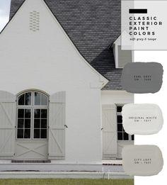 Trendy Ideas For House Fachada Ladrillo Café Exterior, Exterior Gray Paint, Exterior Paint Colors For House, Paint Colors For Home, Exterior Design, Exterior Remodel, Exterior Paint Ideas, Stucco Paint, Farmhouse Exterior Colors