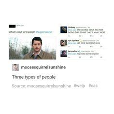 supernatural tumblr textpost castiel cas destiel funny lol dean winchester