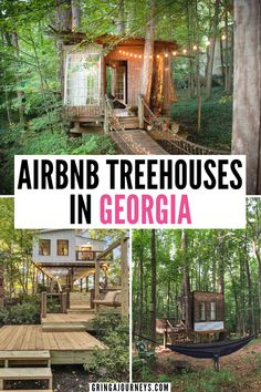 Learn about the best Airbnb treehouses in Georgia that you can stay in! You can find options in north Georgia, Atlanta, the suburbs, and Savannah. | unique airbnb georgia | best airbnbs in georgia | romantic getaways in atlanta | romantic airbnb atlanta | atlanta staycation ideas | treehouse rentals georgia | treehouse airbnb atlanta | treehouse helen ga | luxury airbnb georgia | treehouses in atlanta| airbnb treehouse georgia | tree houses for rent | georgia treehouse rentals