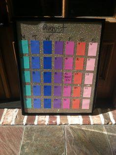 Make a calendar board! @Dakota Lindesmith for our big dorm calendar!
