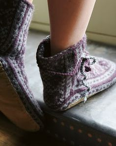 Toast's Hand knit slipper sock - see this image for the sole and how to attach