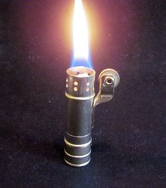 1930s Lighter Silver Trench Wind Proof Lighter Great Working Condition