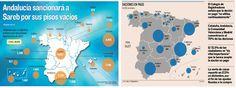 Doble @mapa de España de @Cincodiascom y @Expansioncom contando las daciones en pago en España y el plan andaluz
