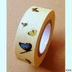 Washi Tape  Blau & Gelb Schmetterling  TapeToGo von TapeToGo, $2.25